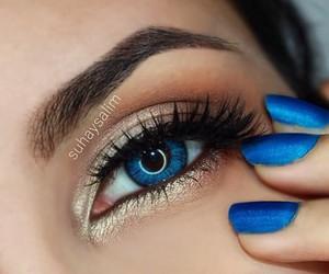 blue, eyes, and make-up image