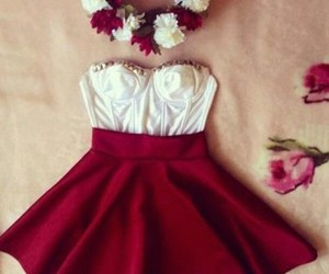 clothes, flowers, and outfit image