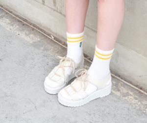aesthetic, shoes, and yellow image