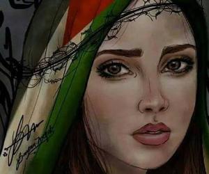 palestine, فلسطينية, and حرة عربية image