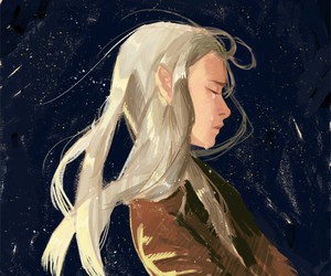 sad, the hobbit, and thranduil image