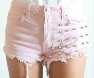 pink, fashion, and shorts image