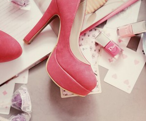nail, shoe, and pink image