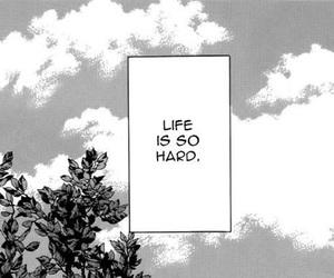 manga, monochrome, and life image
