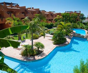 pool, hotel, and luxury image