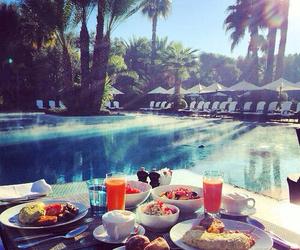 breakfast, pool, and food image