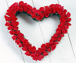 heart, rose, and red image