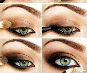 black, makeup, and smoky image