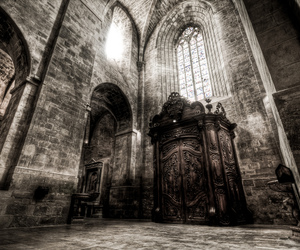 cathedral, dark, and hdr image