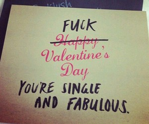 single, love, and Valentine's Day image
