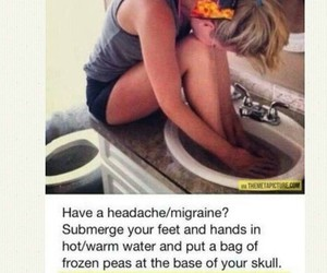 cool, headache, and water image