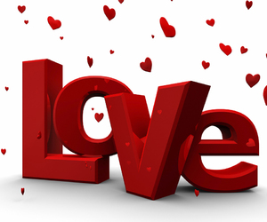 love, red, and hearts image