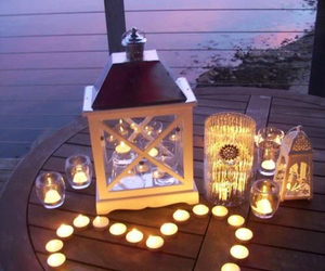 beach, candle, and landscapes image