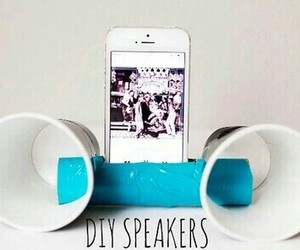 diy, speaker, and phone image