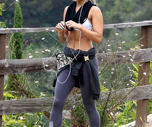 vanessa hudgens, workout, and abs image