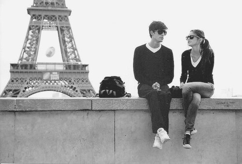 alone, black and white, and couple image