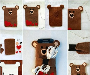 diy, phone, and bear image