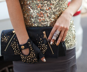 fashion, bag, and clutch image