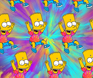 bart, background, and the simpsons image