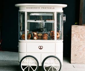 food, pretzel, and vintage image