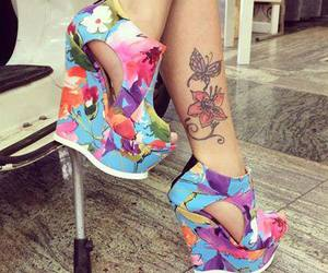 flowers, shoes, and tattoo image