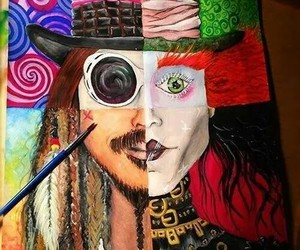 johnny depp, art, and Willy Wonka image