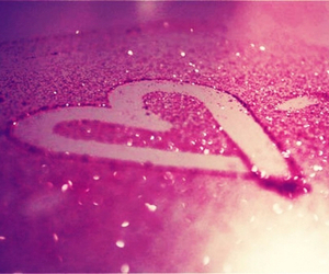 heart, pink, and glitter image