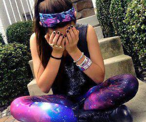 girl, galaxy, and outfit image