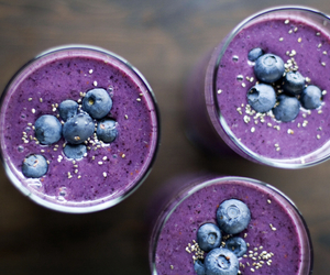 blueberry, healthy, and smoothie image