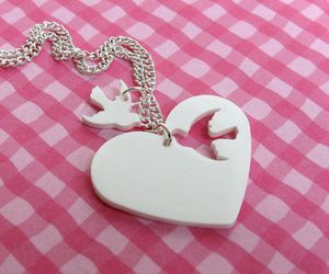 accessories, heart, and white image