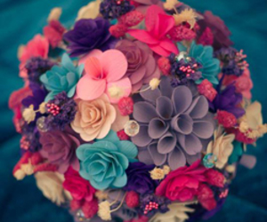 chic, flowers, and colours image