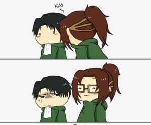 anime, levi, and hanji image
