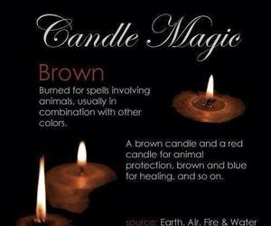 wicca, candle, and pagan image