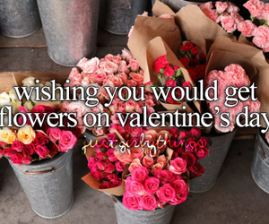 flowers, love, and Valentine's Day image