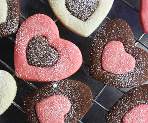 Cookies, food, and hearts image