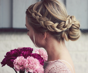 flowers, fashion, and hair image