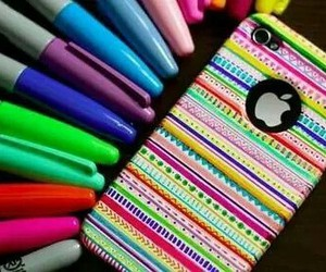 iphone, colors, and apple image