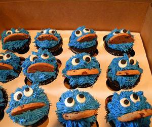 cupcake and cookie monster image