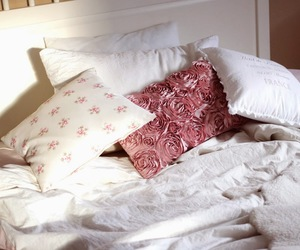 bed, cozy, and decoration image