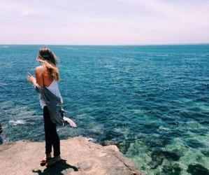 girl, summer, and sea image