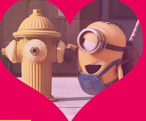 cool, heart, and minions image