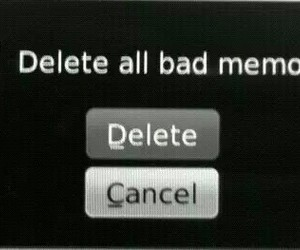 memories, delete, and bad image