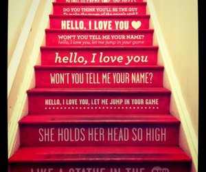 love, stairs, and hello image