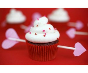 cupcake, red, and love image