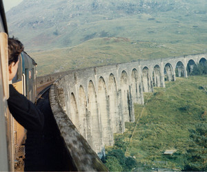 train, bridge, and harry potter image