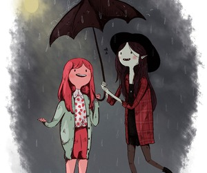 adventure time, rain, and umbrella image