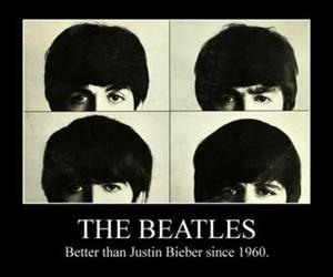 the beatles, beatles, and justin bieber image