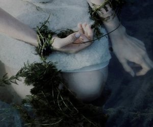 water, hands, and pale image