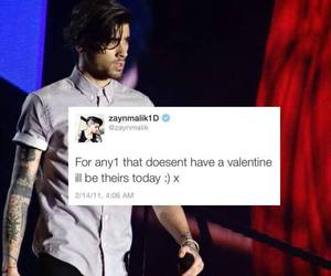 zayn malik, valentine, and love image