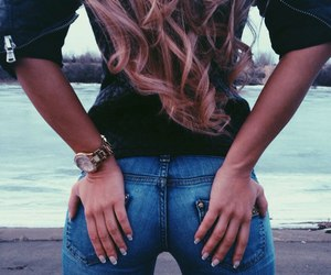 hair, jeans, and body image